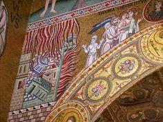 """""""Run my soul! Run from sin, as Lot ran from the fire! Run from Sodom and Gomorrah! Run from the flame of every deceiving desire!"""" ~  from The Great Canon of St Andrew, Bishop of Crete * (The Destruction of Sodom and Gomorrah/The escape of Lot and his family from Sodom - Mosaic from The Cappella Palatina, Palermo, Italy)"""