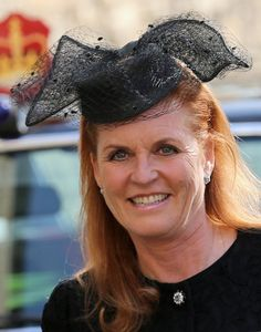 Sarah, Duchess of York, March 13, 2014 | The Royal Hats Blog-at the memorial service for Sir David Frost, March 13, 2014