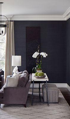 Grasscloth Wallpaper - Manila Hemp Charcoal • Natural Wallcoverings • Phillip Jeffries Ltd.