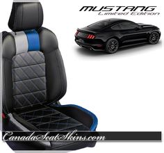 New Special Limited Edition Mustang Leather Upholstery Packages - canadaseatskins.com or call 1 855 289 5467 #mustang #leatherseats #limitededition