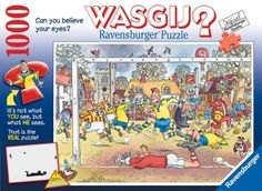 Here's the perfect puzzle to work while you're engrossed in the 2014 FIFA World Cup Soccer series. It's Ravensburger's WASGIJ? Soccer Madness 1000 piece jigsaw puzzle. It's available from Amazon by clicking on the picture. #worldcup #soccer #wasgij