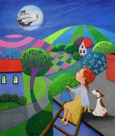 "Saatchi Art Artist Iwona Lifsches; Painting, ""Ulla's Last Minute To Neverland, SOLD"" #art"