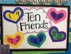 Ten Friends Poster Anchor Chart Addition Strategy for Making a Ten