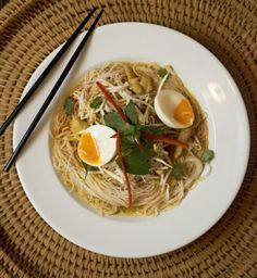 Chicken Laksa with Noodles Chicken Laksa, Asian, What You Eat, Chopsticks, Gluten Free Recipes, Ramen, Noodles, Spices, Ethnic Recipes