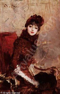 BOLDINI Giovanni - Ritratto di signora seduta in poltrona