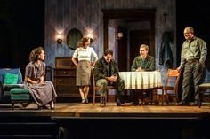 """Seattle Repertory Theatre's production of Arthur Miller's """"A View from the Bridge,"""" features Kirsten Potter (Bea), left, Amy Danneker (Catherine), Brandon O'Neill (Marco), Frank Boyd (Rudolpho), and Mark Zeisler (Eddie). (Bea), left, Amy Danneker (Catherine), Brandon O'Neill (Marco), Frank Boyd (Rudolpho), and Mark Zeisler (Eddie).  (Alan Alabastro)"""