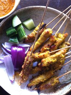 Sachie's Authentic Malaysian Satay with Peanut Sauce