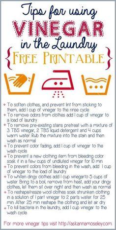 Vinegar uses in laundry