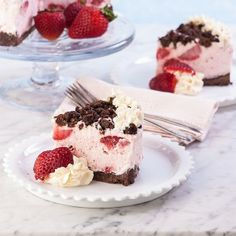 Chocolate Frosty Strawberry Cake {Gluten Free}
