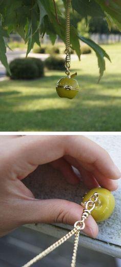 Adorable Apple Necklace ❦