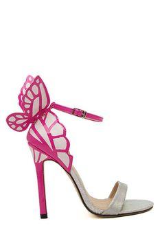 Butterfly Color Block Stiletto Heel Sandals