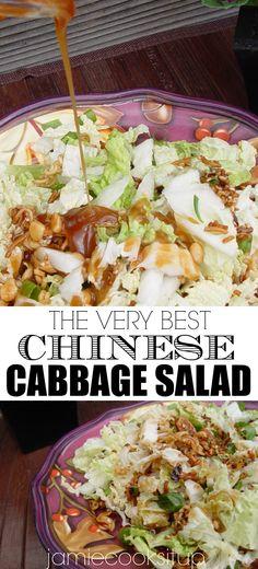 Cabbage Salad Recipes, Best Salad Recipes, Potluck Recipes, Side Dish Recipes, Asian Recipes, Appetizer Recipes, Vegetarian Recipes, Cooking Recipes, Healthy Recipes