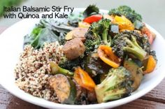 Italian Balsamic Stir Fry with Chicken Sausage and Kale by Say What You Need to Say