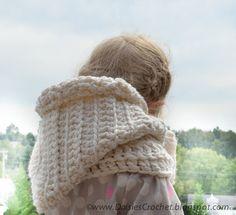 Crochet PATTERN Hooded wraper Toddler Kids Adult by daisiescrochet