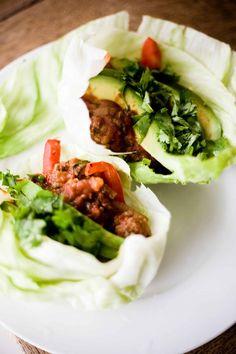 Low Fat Lettuce Bison Wraps Recipe - Greener Ideal