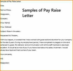 Letter Requesting Salary Increase For Length Of Service
