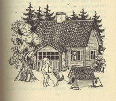 """The Six Bullerby Children"" by Astrid Lindgren, illustrated by Ilon Wikland, 1980  (https://www.etsy.com/listing/103932435/the-six-bullerby-children-by-astrid?ref=af_new_item)"