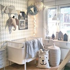 neutral gray + white nursery
