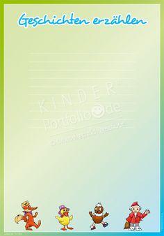 """Kindergarten Portfolio Vorlage """"Geschichten erzählen"""""""