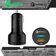 $23.06 (Buy here: https://alitems.com/g/1e8d114494ebda23ff8b16525dc3e8/?i=5&ulp=https%3A%2F%2Fwww.aliexpress.com%2Fitem%2FAUKEY-For-Qualcomm-Quick-Charger-3-0-9V-12V-2-Ports-Mini-USB-Car-Charger-for%2F32692214124.html ) AUKEY For Qualcomm Quick Charger 3.0 9V 12V 2 Ports Mini USB Car Charger for iPhone 6s iPad Samsung HTC Xiaomi QC2.0 Compatible for just $23.06