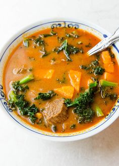 Red Curry Beef Stew with Sweet Potato & Kale