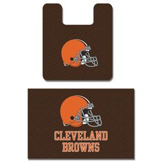 NFL Cleveland Browns Bath Mat Set Football Bathroom Rugs: medleyproducts.com