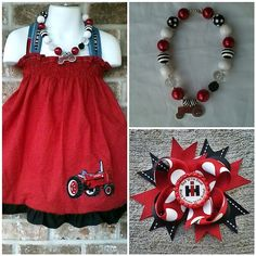 IH red tractor dress by SewABowable on Etsy, $18.00