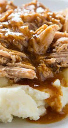Slow Cooker Pork Roast Slow Cooker Pork Roast ~ Pure comfort food… Super easy pork roast for any night of the week. Crockpot Dishes, Crock Pot Cooking, Pork Dishes, Crockpot Recipes, Cooking Recipes, Pork Roast Recipes, Game Recipes, Shredded Pork Recipes, Crock Pots