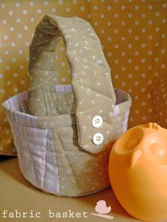 craftaholic: Cestinha de tecido para a páscoa -Tutorial