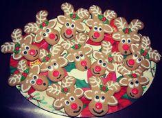 reindeer biscuits from upside down gingerbread men!