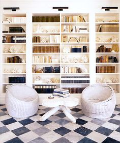 haynes-roberts inc. love love love the floor and color-coded books.