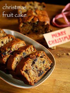 christmas cake recipe | fruit cake recipe | plum cake recipe - http://hebbarskitchen.com/christmas-cake-recipe-plum-fruit-cake/