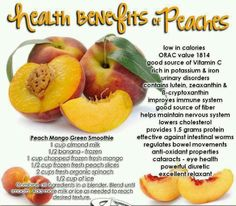 Health benefits of peaches!