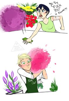 I think I saw the original post on tumblr. to which they actually created a bouquet of flowers that could convey fuck you to that person. I love this fanart! Adrien is just so surprised and confused!