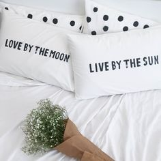 Image of Live By The Sun / Love By The Moon Pillowcase Set