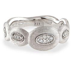 Nanis 18k White Gold Olga Diamond Ring ($1,225) ❤ liked on Polyvore