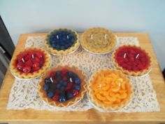 Variety of Fruit Scented Pie Gel Candles