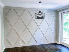 Accent Walls In Living Room, Accent Wall Bedroom, Dining Room Feature Wall, Accent Wall Panels, Wall Accents, Dining Room Design, Casa Rock, Diy Casa, Home Decor Inspiration