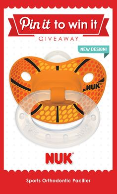 Available in 4 different #sports designs for your little athlete! #NUK #pacifiers #BPAfree #babyregistry #babyshower