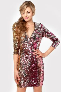 36de5ca5ba6 Stay sparkly this holiday season - Rubber Ducky Wildfire Multi Sequin Dress.New  Years dress