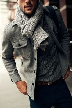 Men's scarf #accessory #menstyle