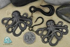Patina brass octopus hanging design... $60 worth every penny