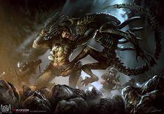Alien vs Predator by daRoz.deviantart.com on @DeviantArt