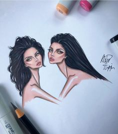 this collab was iconic 😍🤍 we hope everyone is enjoying their Kendall x Kylie collection products! thank you @alex_phippen for the beautiful artwork.