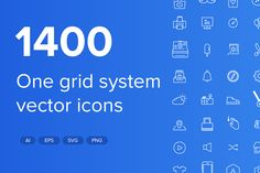 1400 Stroke and Solid Vector Icons by BraveBros on Creative Market