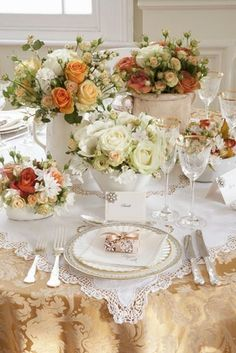I love the flowers and color scheme. About $50. I would use this for a fall dinner party or even a Thanksgiving dinner.