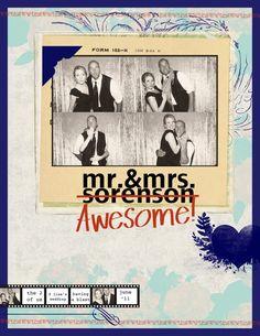 mr & mrs awesome - by jamie sorenson