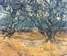 Path Through the Olive Trees, van Gogh, 1889