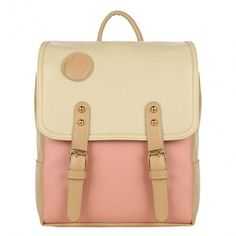 New Women's Retro College Sweet Shoulder Bag Synthetic Leather Backpack