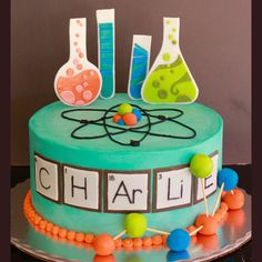 All Cakes — Sweet Retreat Cupcake Boutique Science Cake, Mad Science Party, Mad Scientist Party, Themed Birthday Cakes, Themed Cupcakes, Birthday Fun, Birthday Parties, Chemistry Cake, Cupcake Boutique